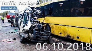Подборка аварий и дорожных происшествий за 06.10.2018 (ДТП, Аварии, ЧП)