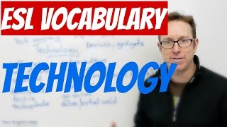 English lesson - Words to talk about TECHNOLOGY - palabras en inglés