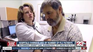 Hospitals overwhelmed by number of flu patients