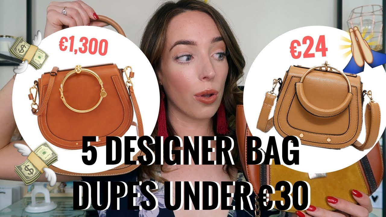 5 DESIGNER DUPE BAGS UNDER €30! 👜  PRADA, CHLOE, CHANEL, LOUIS VUITTON | CIARA O DOHERTY