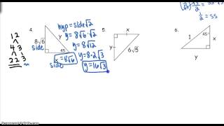 Unit 5 Day 4 Notes - Special Right Triangles