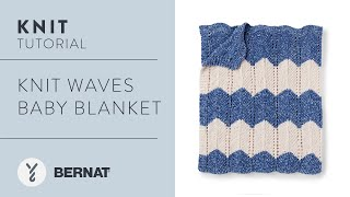 Knit A Chevron Baby Blanket | Easy Pattern Tutorial
