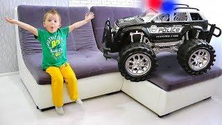 New POLICE Cars transformed into huge Monster Trucks for kids