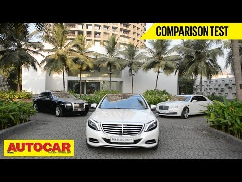 Mercedes-Benz S-Class Vs Rolls-Royce Ghost Vs Bentley Flying Spur | Comparison Test