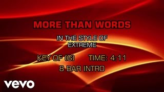 Gambar cover Extreme - More Than Words (Karaoke)
