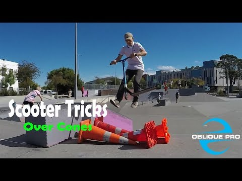Scooter Tricks Jumping Cones