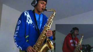 Akon - Right Now (Na Na Na) - Tenor Saxophone Duet by charlez360
