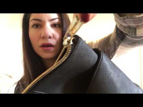 Michael Kors jet set zip top bag review & what's in my bag!