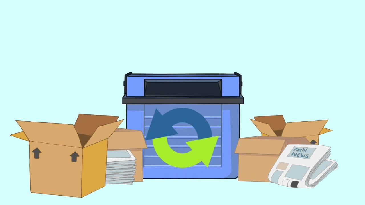 Qué va en el contenedor azul
