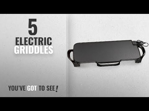 Top 10 Electric Griddles [2018]: Presto 07061 22-inch Electric Griddle With Removable Handles