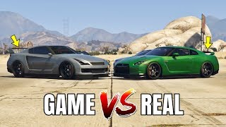 GTA 5 ONLINE   GTA 5 CARS VS REAL LIFE CARS (WHICH IS FASTEST?)