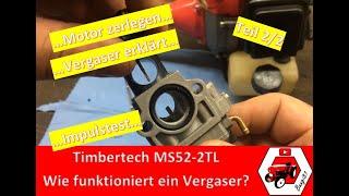 Motorsense läuft nicht | Timbertech MS52-2TL | Motor zerlegen, Vergaser einstellen etc. | # 2/2