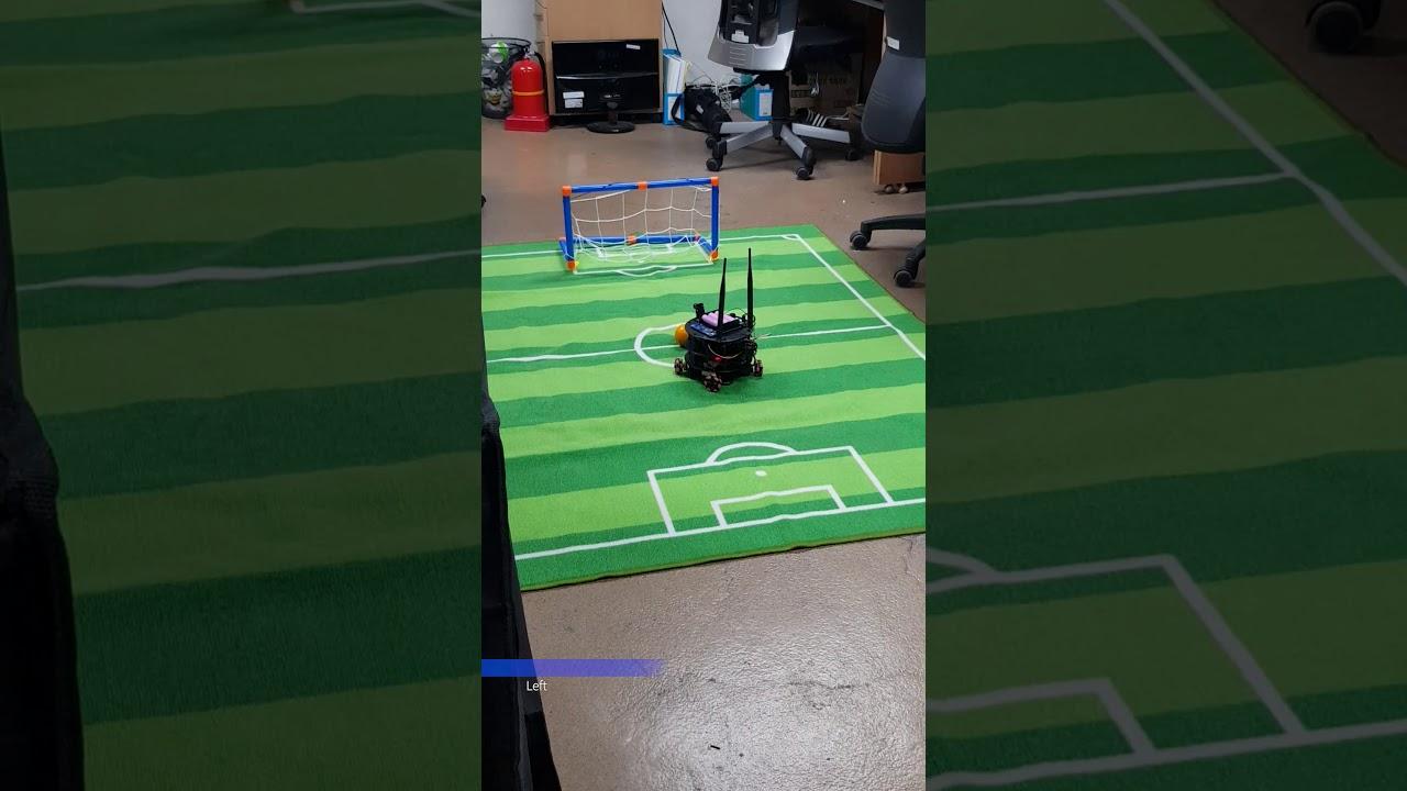 Jetbot soccer field test 1