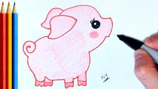 How To Draw Pig Cute And Easy Videos