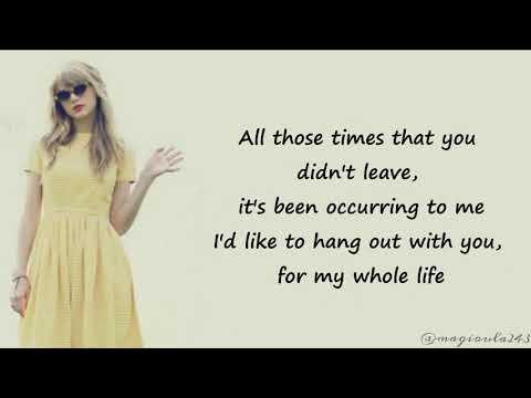 Taylor Swift - Stay Stay Stay (Lyrics)
