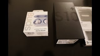 Samsung S10 Plus Ceramic Black 512GB  and Samsung Buds Unboxing