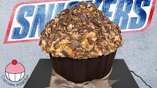 Giant SNICKERS Bar Cupcakes! A Cupcake Addiction How To Tutorial