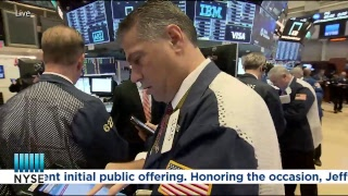 Elanco Animal Health celebrates their recent listing on the NYSE by ringing the NYSE Opening Bell