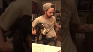 Producer Joe Getting Dog Kisses!