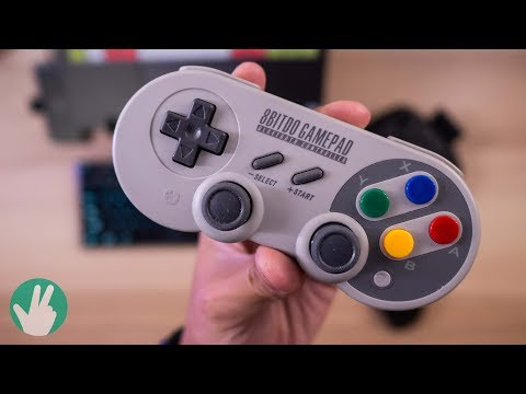 You need this modern SNES gamepad (8bitdo SF30 Pro)