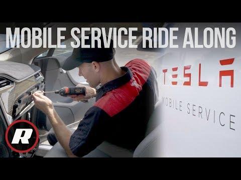 Jak funguje mobilní servis Tesly