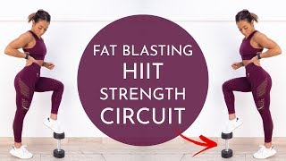 WOW, This Workout Killed Me! 15 MIN FULL BODY HIIT STRENGTH CIRCUIT (Dumbbells)