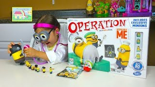 FUN MINIONS GAME SURPRISE TOY CHALLENGE Kinder Surprise Egg Minion Surprise Bag Toy Minion Game