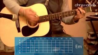 """Cómo tocar """"Veneno"""" de Zoé en guitarra (HD) Tutorial - Christianvib"""