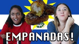 TRYING SALVADORAN EMPANADAS !!!!