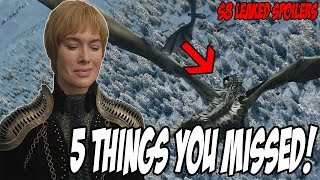 5 Things You MISSED! Game Of Thrones Season 8 Trailer (Leaked Spoilers)
