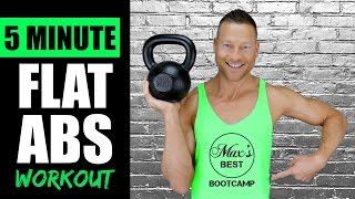 5 MINUTE KETTLEBELL ABS WORKOUT FOR A FLAT STOMACH | Quick Kettlebell Abs Workout Routine 4 by Max's Best Bootcamp