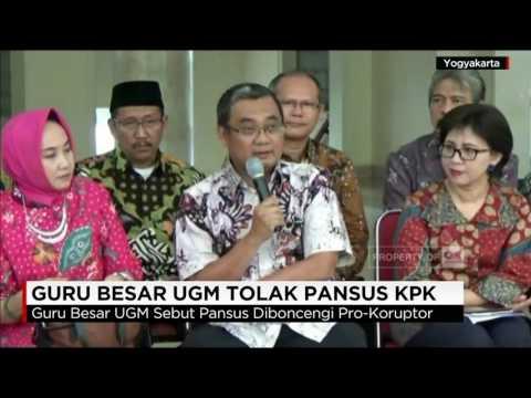 Guru Besar UGM Tolak Pansus KPK