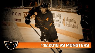 Monsters vs. Phantoms | Jan. 12, 2020
