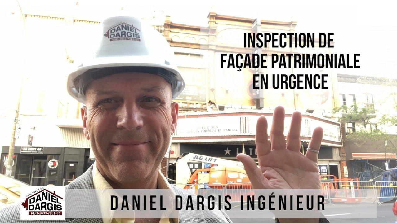 Inspection de façade patrimoniale en urgence - brique et maçonnerie - Daniel Dargis ingénieur
