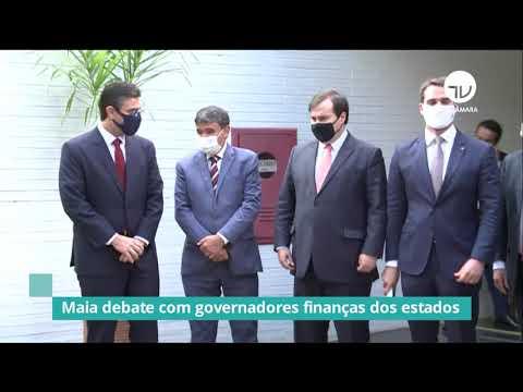 Maia debate com governadores finanças dos estados - 03/11/20
