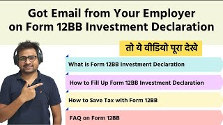 How to Fill Form 12BB Investment Declaration by Employee to Employer with Example