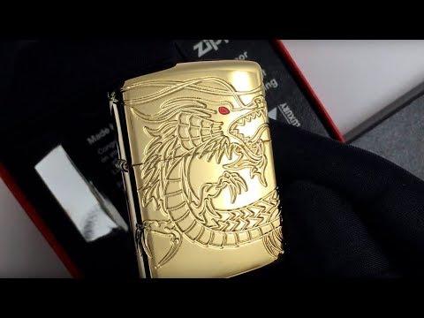 29265 Зажигалка Zippo Armor Multicut Dragon, Gold Plate