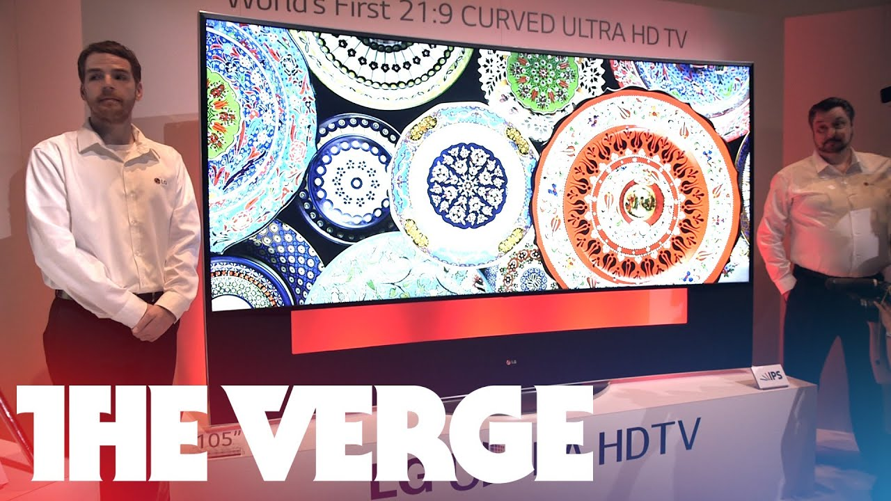 Hands-on with LG's 105-inch curved UHDTV thumbnail