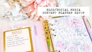 Blog Social Media Content Planner Setup   Personal Kikki K Planner