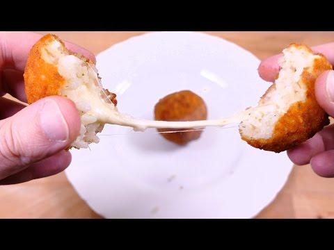 Si te sobra arroz NO LO TIRES. Prepara estas bolas de arroz rellenas de QUESO