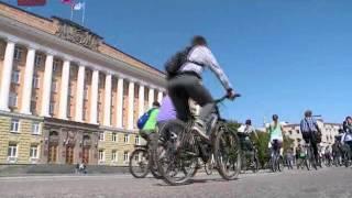 В Великом Новгороде прошел велопарад