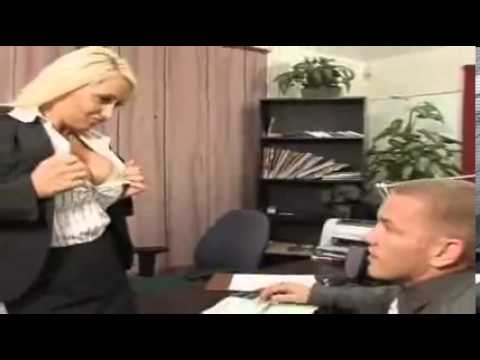 Sexy Blonde Boss Opening Hot Shirt