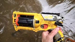 Out River Hunting: Found Nerf Gun, Snake, and a Huge Log that washed up in the trees. - Video Youtube