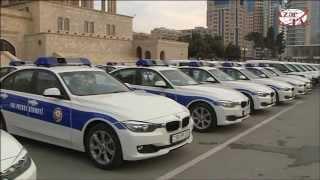 Президент Ильхам Алиев осмотрел новые автомобили для сотрудников МВД