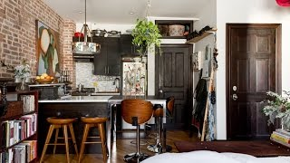 Tour Charming Studio Apartment With Rustic Touch ▸ Brooklyn