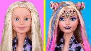 Миниатюрная косметика для Барби / 12 лайфхаков для куклы Барби