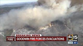 Goodwin fire burning 21,000 acres, weather conditions make fighting it extremely difficult