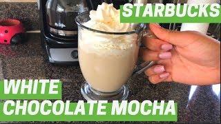 DIY Starbucks White Chocolate Mocha | Super Easy!