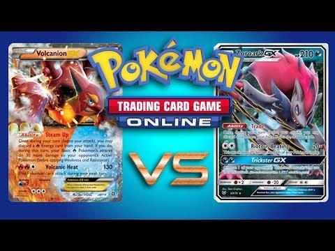 Volcanion EX vs Zoroark GX / Lycanroc GX – Pokemon TCG Online Gameplay