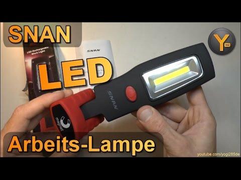 Kurztest: SNAN 3W LED Arbeitslampe mit Li-Ion Akku / 1200mAh Arbeitsleuchte